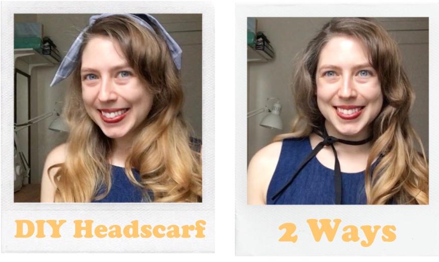 DIY Retro Headscarf 2Ways